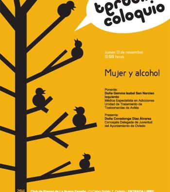 cartel alcohol y mujer