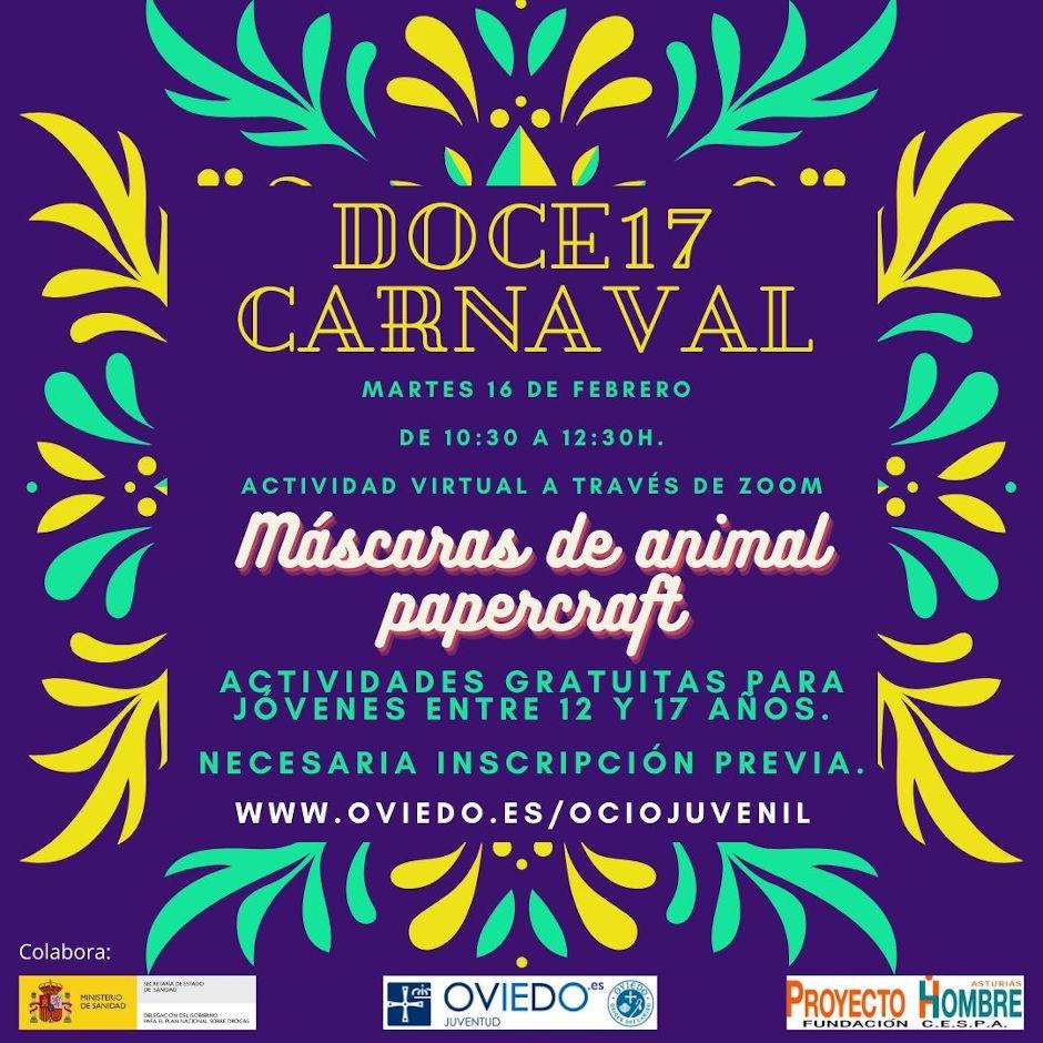 Actividad virtual de Carnaval
