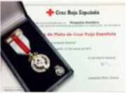Medalla de plata cruz roja